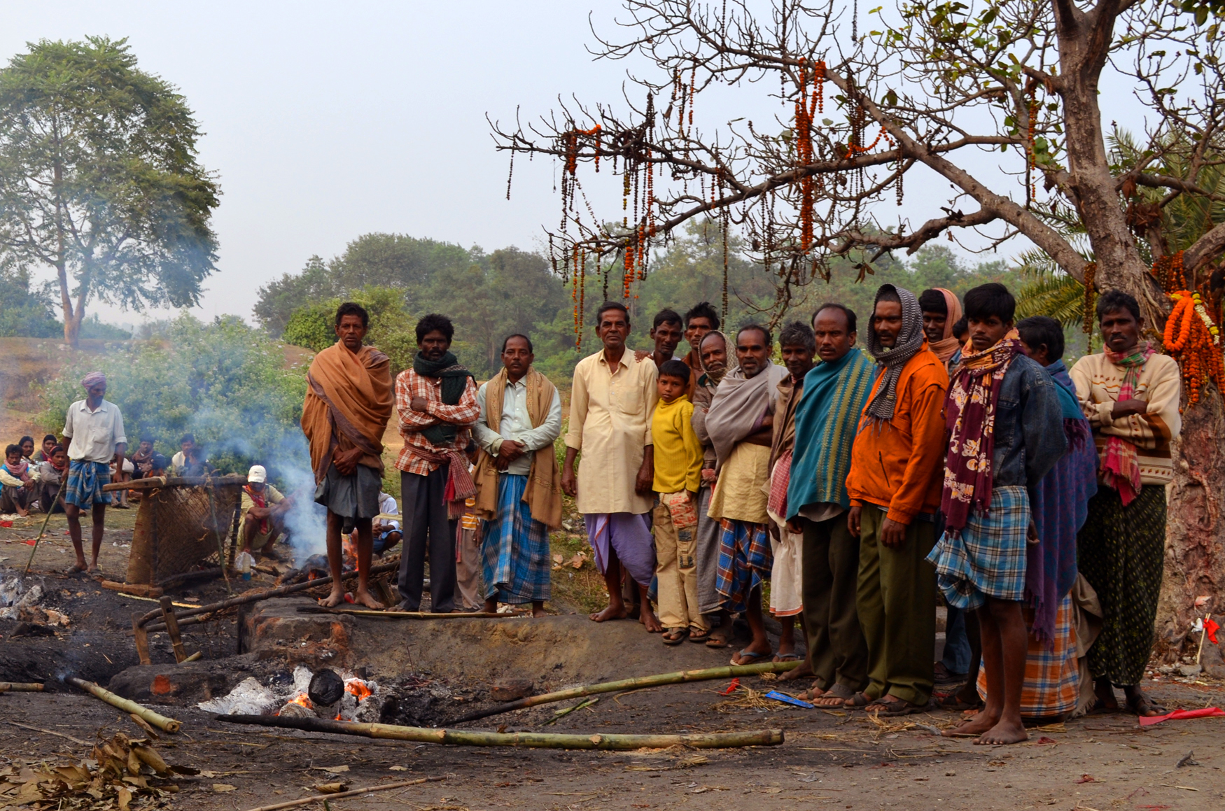 Group Portrait of the Dom (Body Burning Caste) at Bakreshwar
