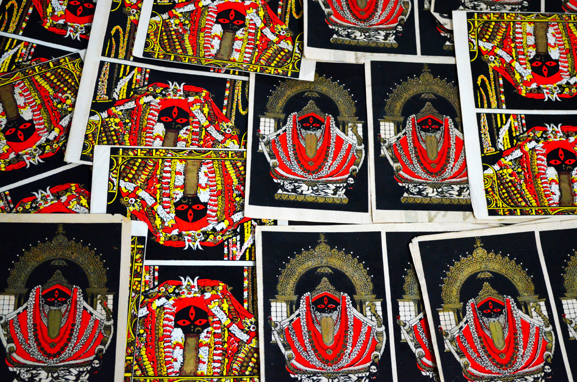 Kalighat Kalika Screen Prints