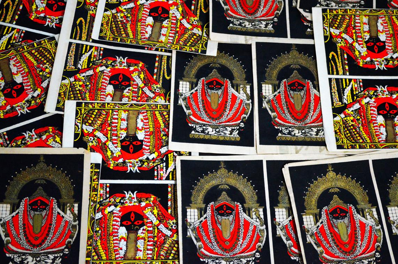 Kalighat Kalika Screen Prints