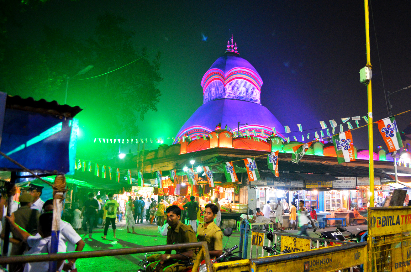 The Kalighat Mandir at Night